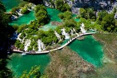 Stationnement national de lacs Plitvice Image libre de droits