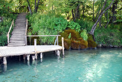 Stationnement national de lacs Plitvice en Croatie Photo libre de droits