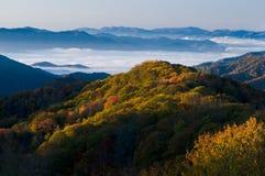 Stationnement national de montagnes fumeuses Photo libre de droits