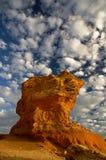 Stationnement national de pinacles de Nambung en Australie Photographie stock libre de droits
