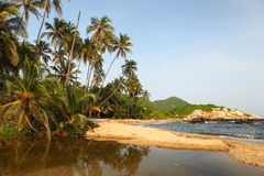 Stationnement national de Tayrona de plage de Cabo San Juan, Colombie Images libres de droits