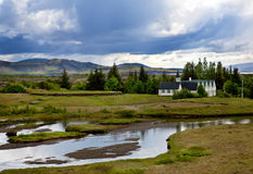 Stationnement national de Thingvellir Images libres de droits