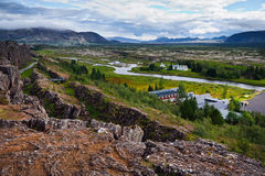 Stationnement national de Thingvellir - Islande Images libres de droits