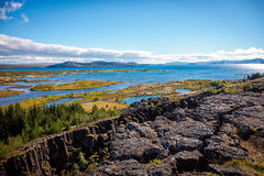 Stationnement national de Thingvellir, Islande Photo libre de droits