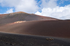 Stationnement national de Timanfaya Image libre de droits