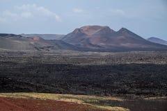 Stationnement national de Timanfaya, Lanzarote Images libres de droits