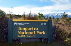 Stationnement national de Tongariro Image libre de droits