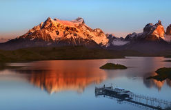 Stationnement national de Torres del Paine - Patagonia Images libres de droits