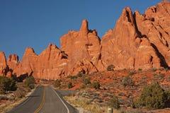 Stationnement national de voûtes en Utah, Etats-Unis Images stock