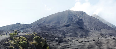 Stationnement national de volcan de Pacaya, Guatemala images libres de droits