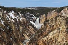 Stationnement national de Yellowstone - abaissez les automnes Photo libre de droits
