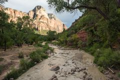 Stationnement national de Zion en Utah Photo stock