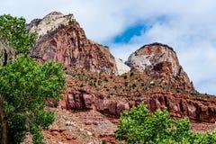 Stationnement national de Zion, Utah image libre de droits