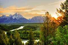 Stationnement national grand de Teton Photo stock