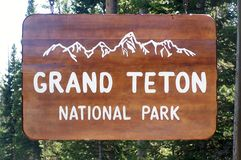 Stationnement national grand de Teton Photos libres de droits