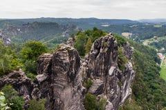 Stationnement national saxon de la Suisse photographie stock