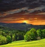 Stationnement national Sumava dans la République Tchèque Images libres de droits