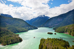 Stationnement national Washington de cascades du nord de lac diablo photos libres de droits