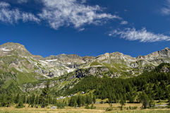 Stationnement normal d'Alpe Veglia images libres de droits