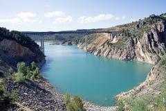 Stationnement normal des gorges de Cabriel en Espagne Photo libre de droits