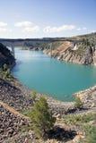 Stationnement normal des gorges de Cabriel en Espagne Photographie stock
