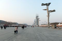 Stationnement olympique de Pékin Images libres de droits