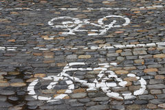 Stationnement pour des bicyclettes Photo stock