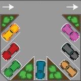 Stationnement pour des véhicules Photographie stock libre de droits
