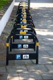 Stationnement pour des vélos Photographie stock libre de droits