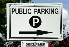 Stationnement public Photo stock