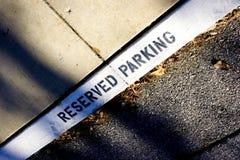 Stationnement réservé Image stock