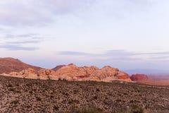 Stationnement rouge de roche Photographie stock