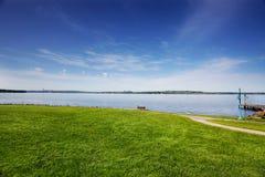 Stationnement sur le lac Washington photographie stock