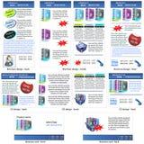 Stationäre Schablone des neuen Produktes Stockbilder