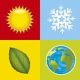 Stations. Colorful weather stations icons. vector illustration Royalty Free Stock Image