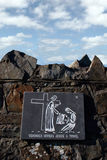 Stations of the cross. A depiction of the journey of jesus stock photos