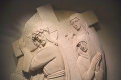 Stations de la croix ou de la manière de la croix Photo stock