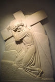 Stations de la croix ou de la manière de la croix Images stock