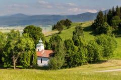 Stations de la manière croisée dans Ruzomberok, Slovaquie Images libres de droits
