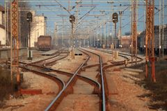 Stations de train Photographie stock