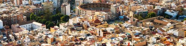 Stations de vacances de l'Espagne Vue aérienne d'Alicante Photos stock