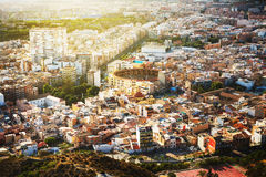 Stations de vacances de l'Espagne Vue aérienne d'Alicante Image stock