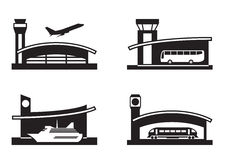 Stations of public transport. Vector illustration Royalty Free Stock Photos