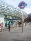 Stationsfolkhop Royaltyfri Bild