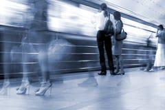 stationsgångtunneltunnelbana Fotografering för Bildbyråer