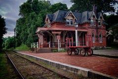 Stationsspår Royaltyfri Fotografi