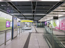 Stationszusammentreffen MTR HKU - die Ausdehnung der Insel-Linie zum Westbezirk, Hong Kong Lizenzfreie Stockbilder