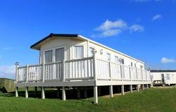 Statisch huis op caravanplaats stock afbeelding