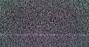Statisch lawaai van detuned TV-scherm stock videobeelden
