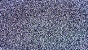 Statisch lawaai van het trillende detuned TV-scherm stock videobeelden